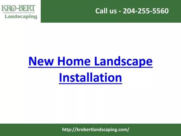ppt - home landscape installation