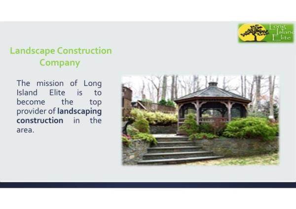 ppt - landscape construction company