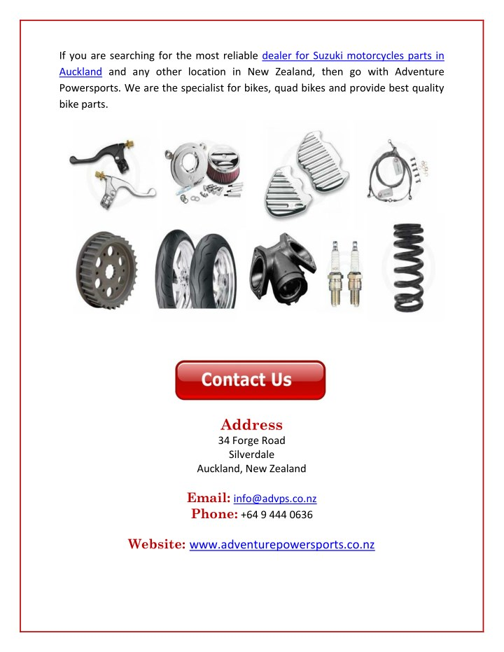 Suzuki Motorcycle Parts Dealer | Kayamotor co