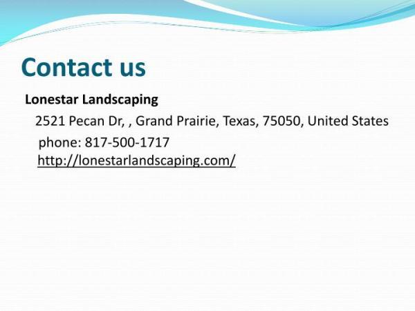ppt - landscape company southlake
