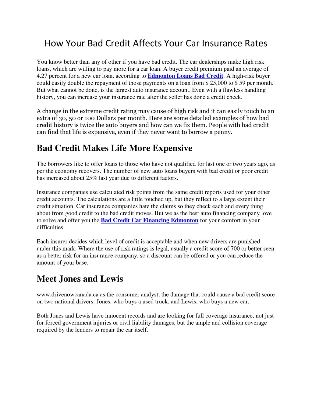 Ppt How Your Bad Credit Affects Your Car Insurance Rates Powerpoint Presentation Id 7606164