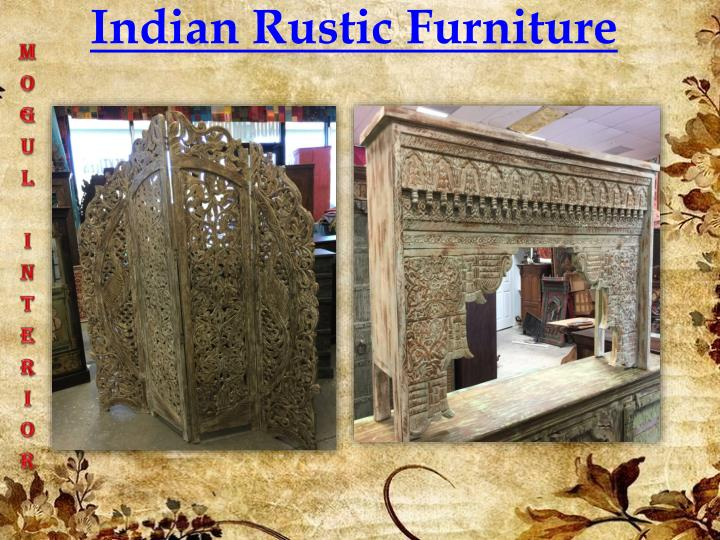 PPT  Indian Rustic Furniture PowerPoint Presentation  ID7614482