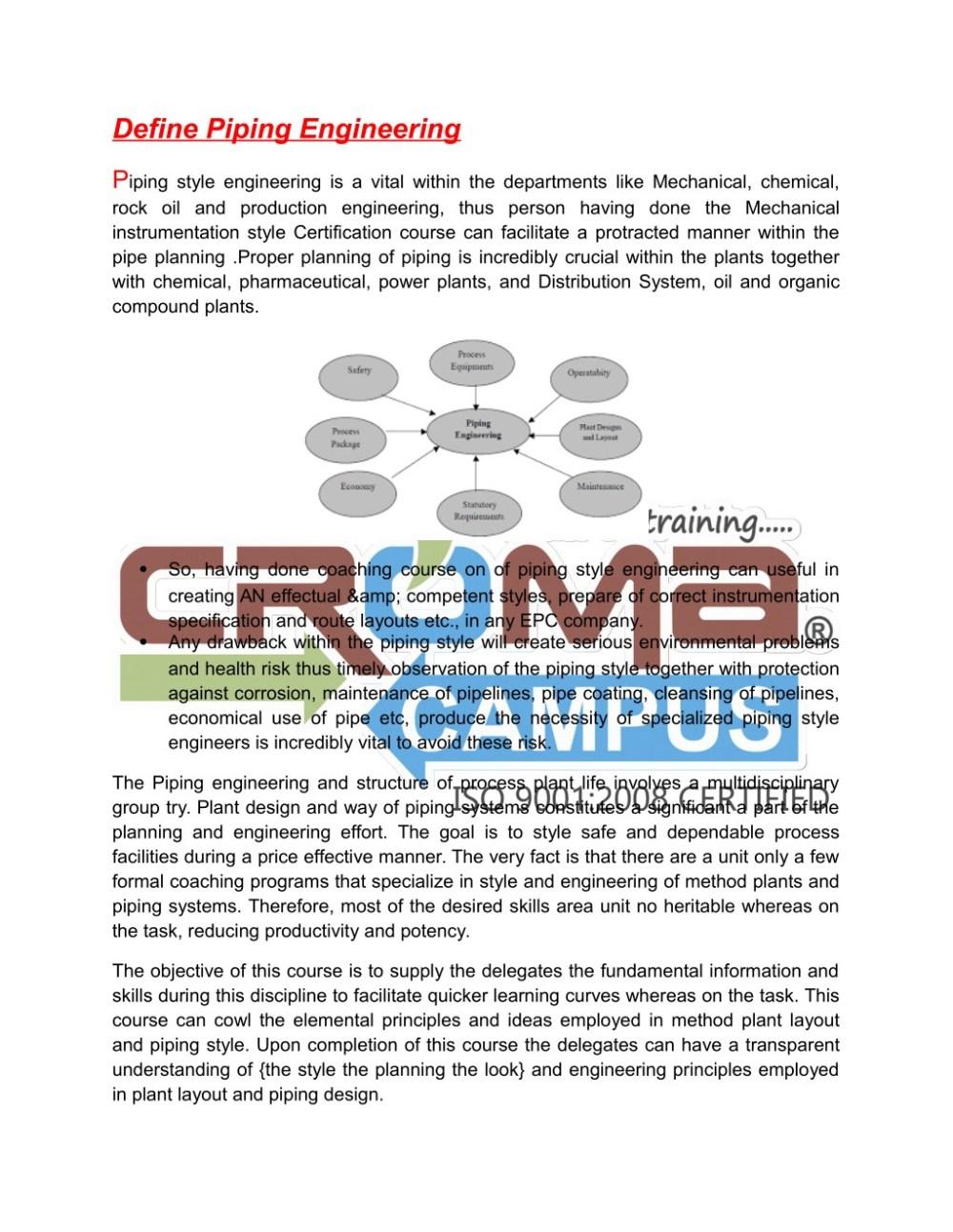 medium resolution of ppt piping engineering training in noida croma campus powerpoint presentation id 7636545