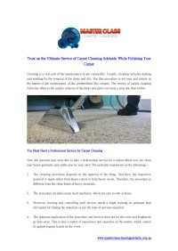 PPT - Trust on the Ultimate Service of Carpet Cleaning ...