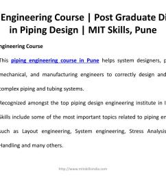 piping engineering course post graduate diploma in piping design  [ 1024 x 768 Pixel ]