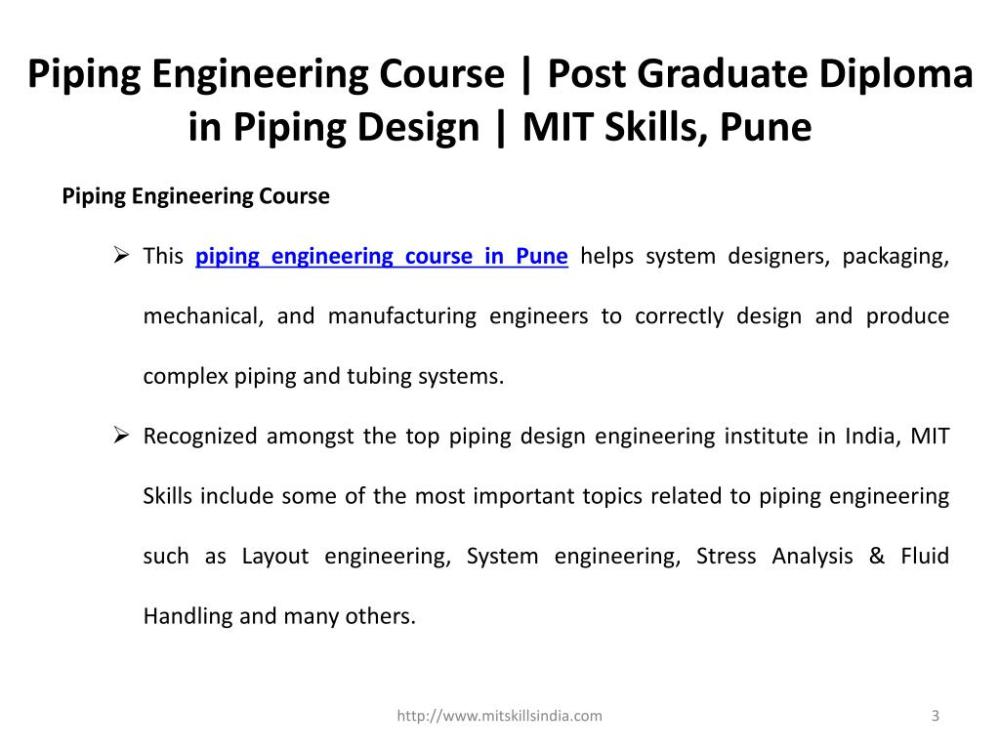 medium resolution of piping engineering course post graduate diploma in piping design