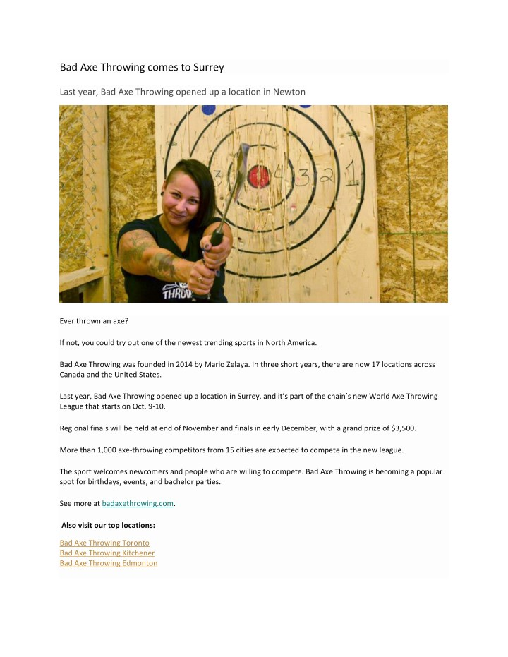 ppt bad axe throwing