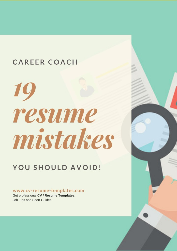 PPT - 19 Resume Mistakes You should avoid PowerPoint Presentation ...