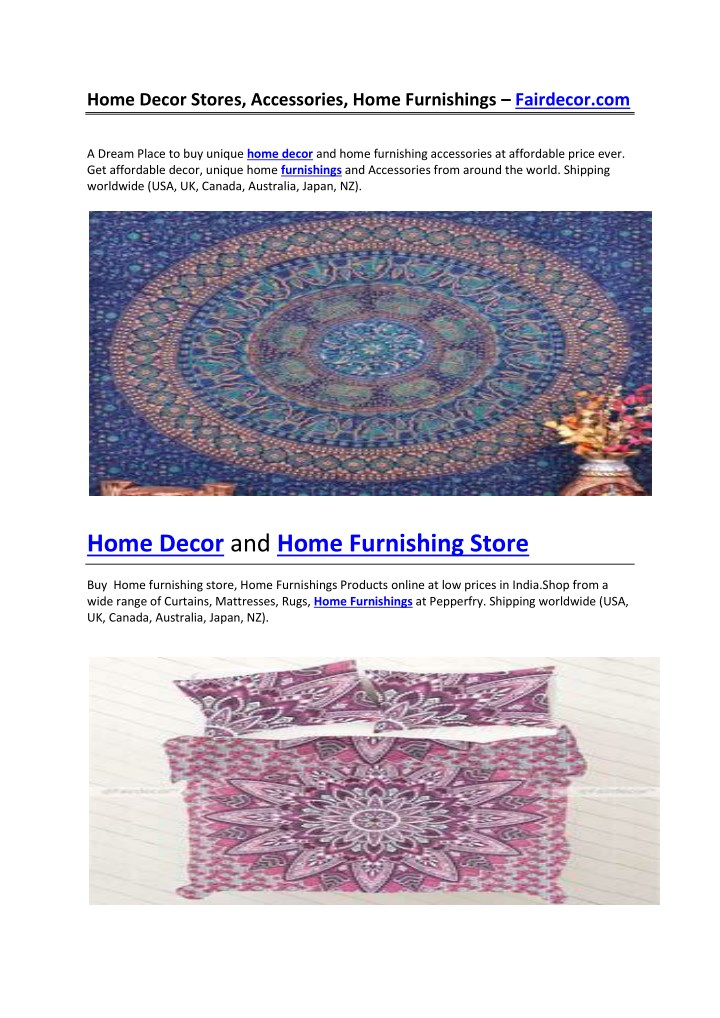 Buy Home Decor Online Uk