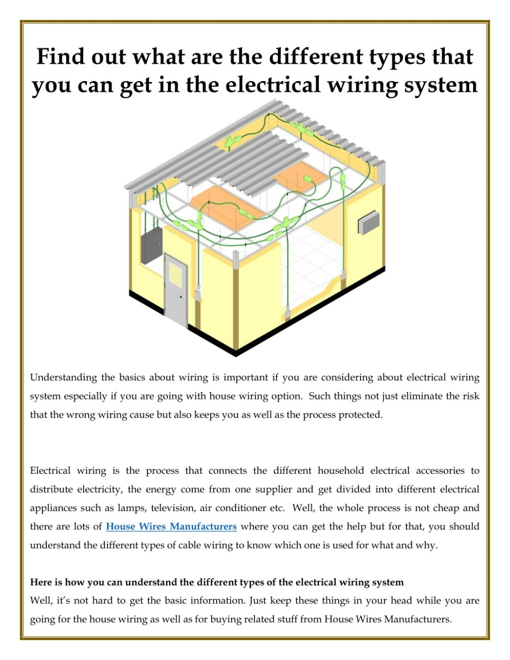medium resolution of find out what are the different types that you can get in the electrical wiring
