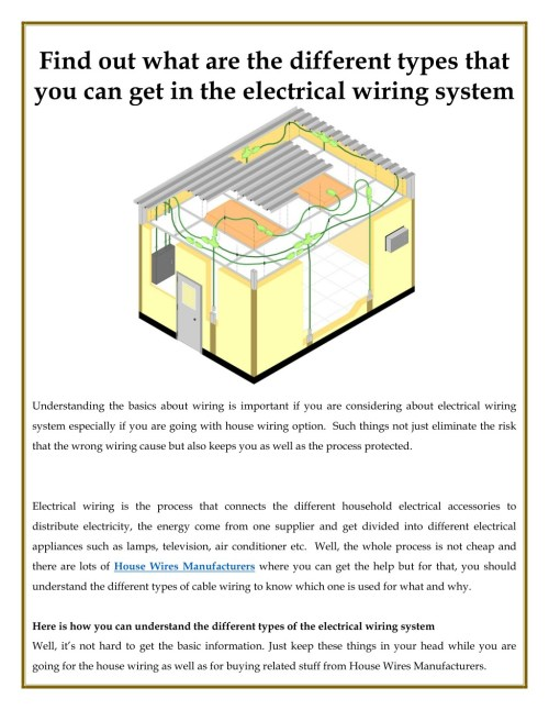 small resolution of find out what are the different types that you can get in the electrical wiring