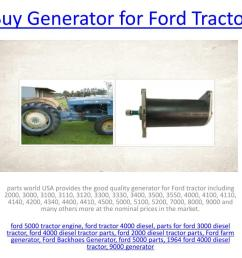 generator for ford tractor powerpoint ppt presentation [ 1024 x 768 Pixel ]