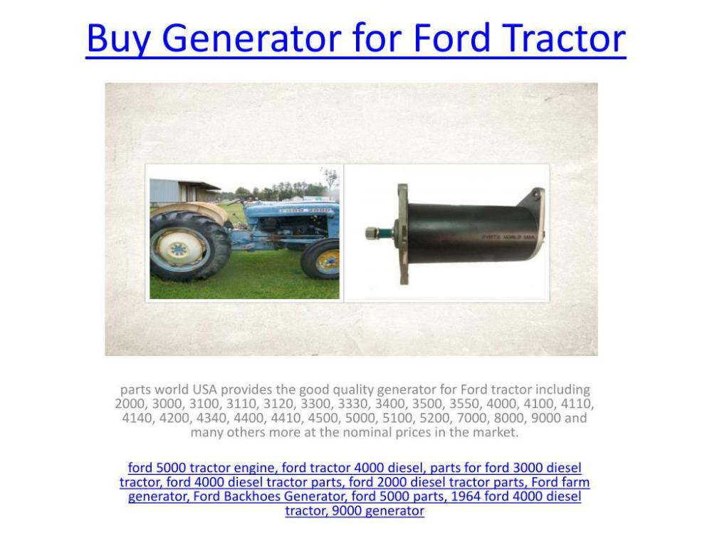 medium resolution of generator for ford tractor powerpoint ppt presentation