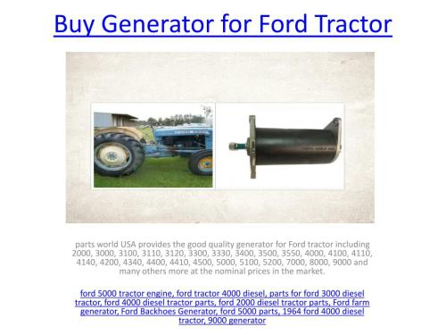 small resolution of generator for ford tractor powerpoint ppt presentation