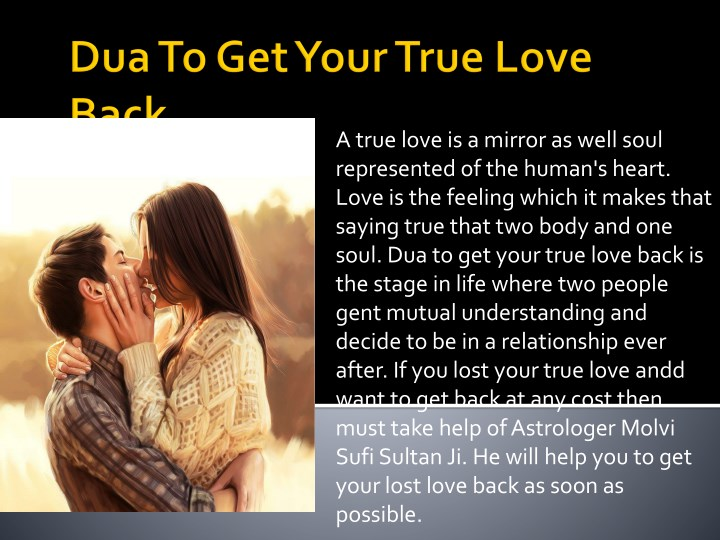 Ppt Dua To Get Your True Love Back Powerpoint Presentation Free Download Id 7892217