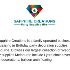 Wedding Chair Covers Hire Melbourne Cover Rentals Pink Ppt Supplies Powerpoint Presentation Id 7927887 Sapphire Creations Is A Family Operated Business