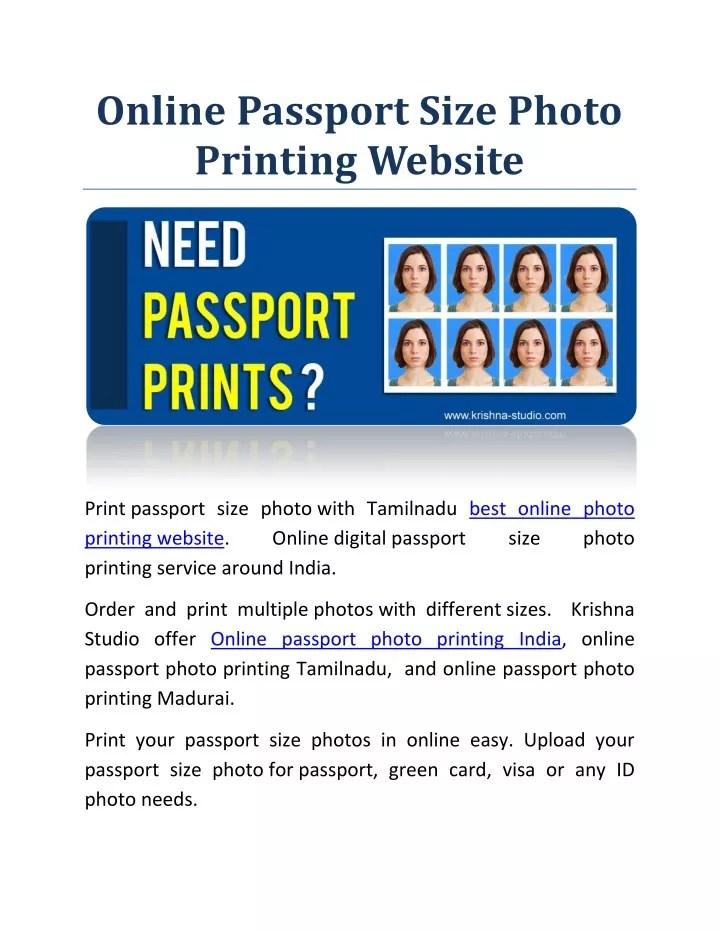 ppt online digital passport