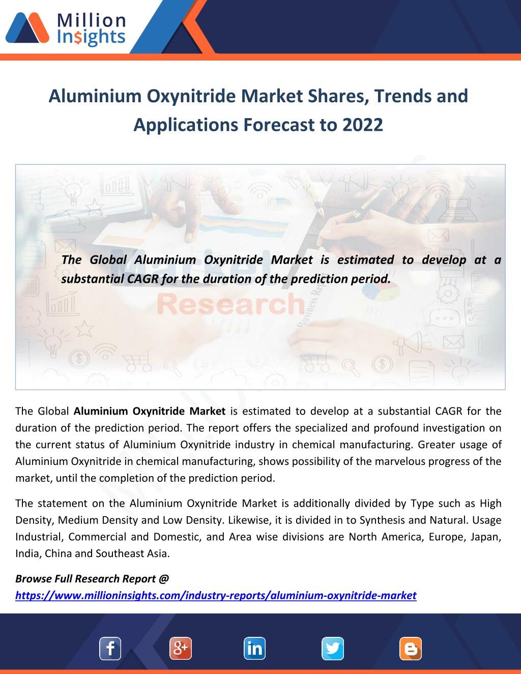 ppt aluminium oxynitride market