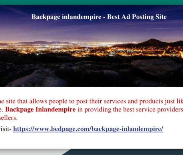 Backpage Inlandempire Best Ad Posting Site