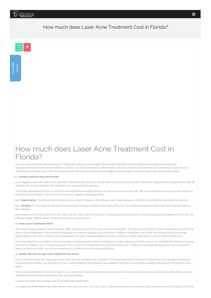 PPT - Dermatologist Acne treatment cost PowerPoint ...