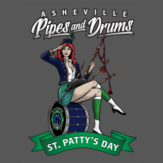 Asheville Fire Pipes & Drums by Brent Baldwin