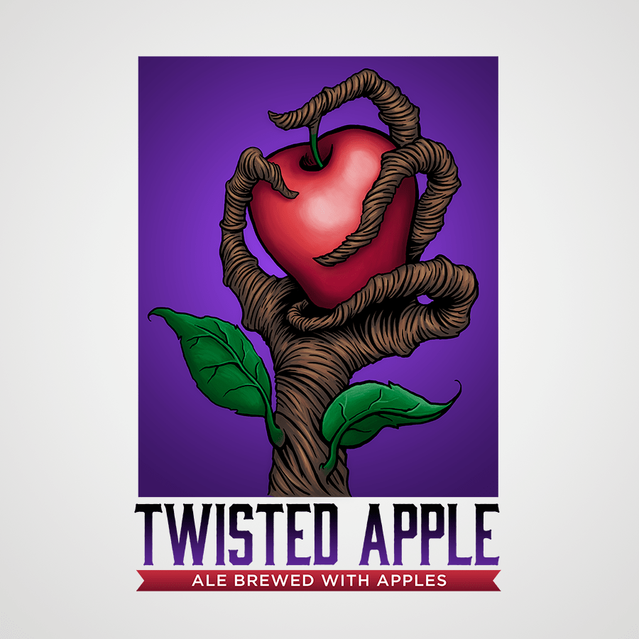 Twisted Apple Ale logo by Brent Baldwin