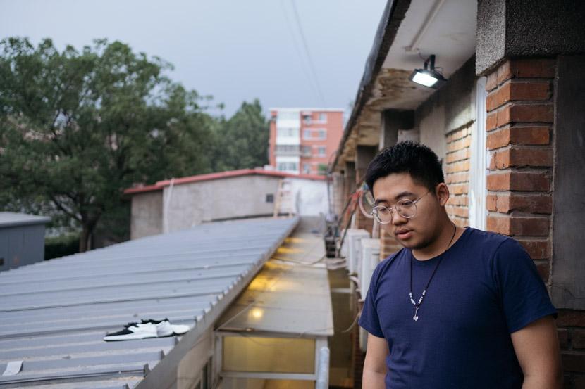 Yang Zhiyuan poses for a photo in Beijing, May 12, 2018. Wu Huiyuan/Sixth Tone
