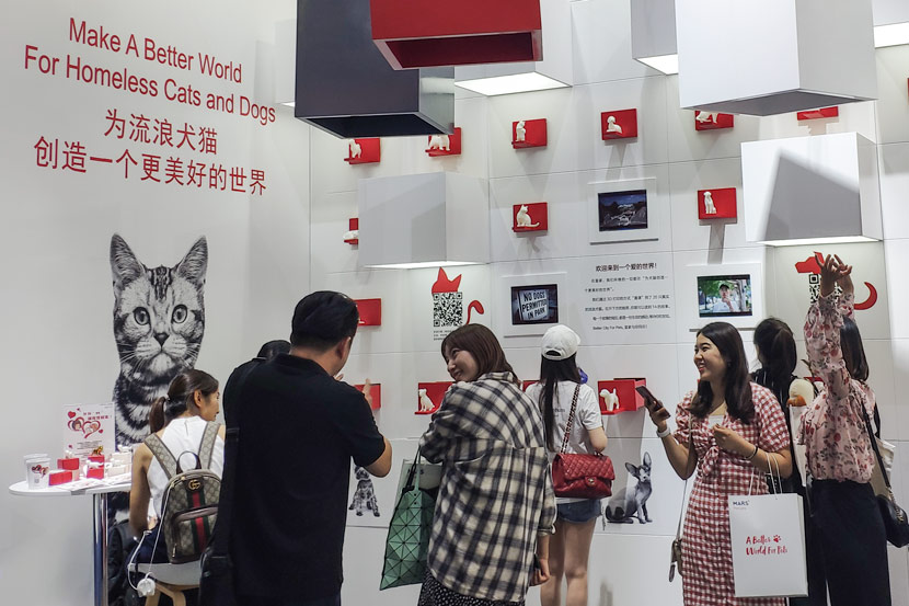 Royal Canin's booth at Pet Fair Asia in Shanghai, Aug. 22, 2019. Fan Yiying/Sixth Tone