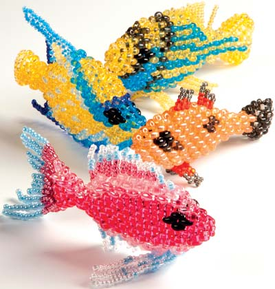 Projects Home Décor Fish With Twin™ Seed Beads Fire Mountain