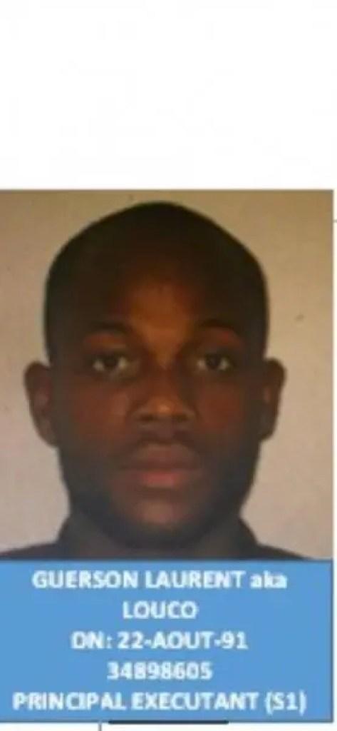 Guerson Laurent, le principal suspect dans l'assassinat de Me Dorval arrêté par la Police - Guerson Laurent, Louco, Monferrier Dorval