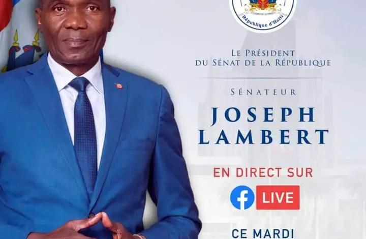 Joseph Lambert donne rendez-vous à 6h Pm sur Facebook - Joseph Lambert