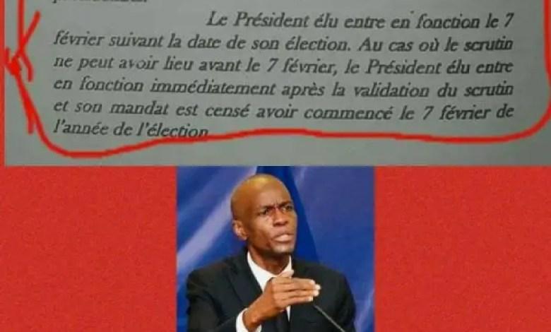 Quid de la fin du mandat présidentiel de Jovenel Moïse ( une approche Juridico-Politique) - Jovenel Moïse, mandat