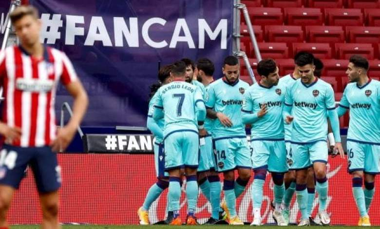 Football-Liga: victoire de Levante face à l'Atletico Madrid [2 - 0] - Atletico Madrid, Levante