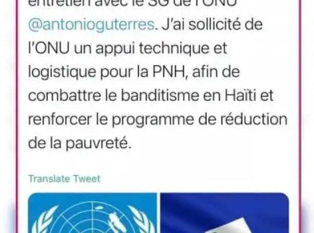 Banditisme: Après l'OEA, Jovenel Moïse demande le support de l'ONU - Jovenel Moïse, ONU