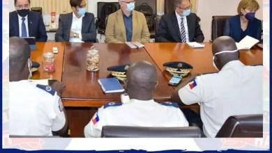 Rencontre entre la représentante du Secrétaire Général de l'ONU et le DG de la PNH - Police