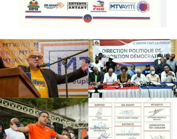 Six structures politiques se mettent d'accord pour un gouvernement d'entente nationale - accord, Jovenel Moïse, opposition