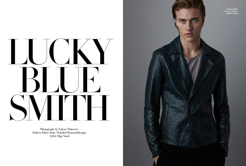 HARPER'S BAZAAR THAILAND MAN Lucky Blue Smith by Lukasz Pukowiec. Olga Yanul, Spring 2016, www.imageamplified.com, Image Amplified (1)