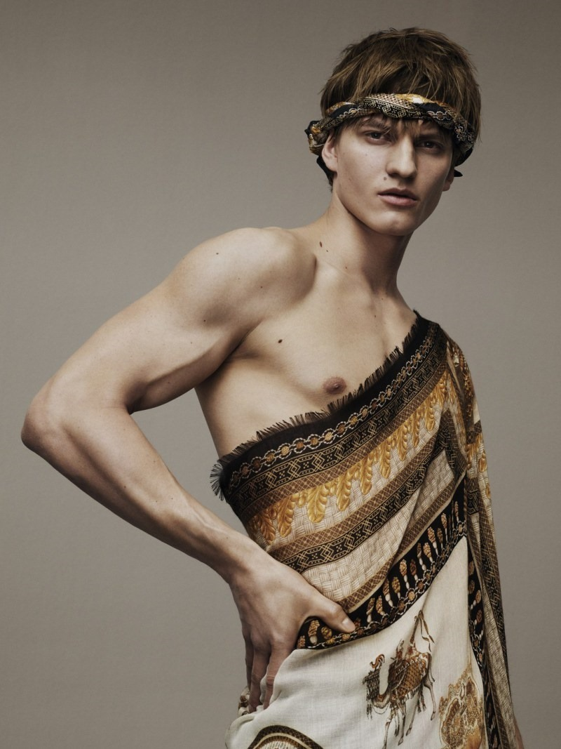 CAMPAIGN Benjamin Benedek & Malcolm Lindberg for Versace Scarves 2016 by Ben Weller. www.imageamplified.com, Image Amplified (3)
