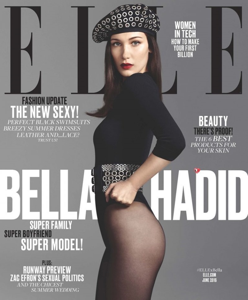 ELLE MAGAZINE Bella Hadid by Terry Tsiolis. Samira Nasr, June 2016, www.imageamplified.com, Image Amplified (1)