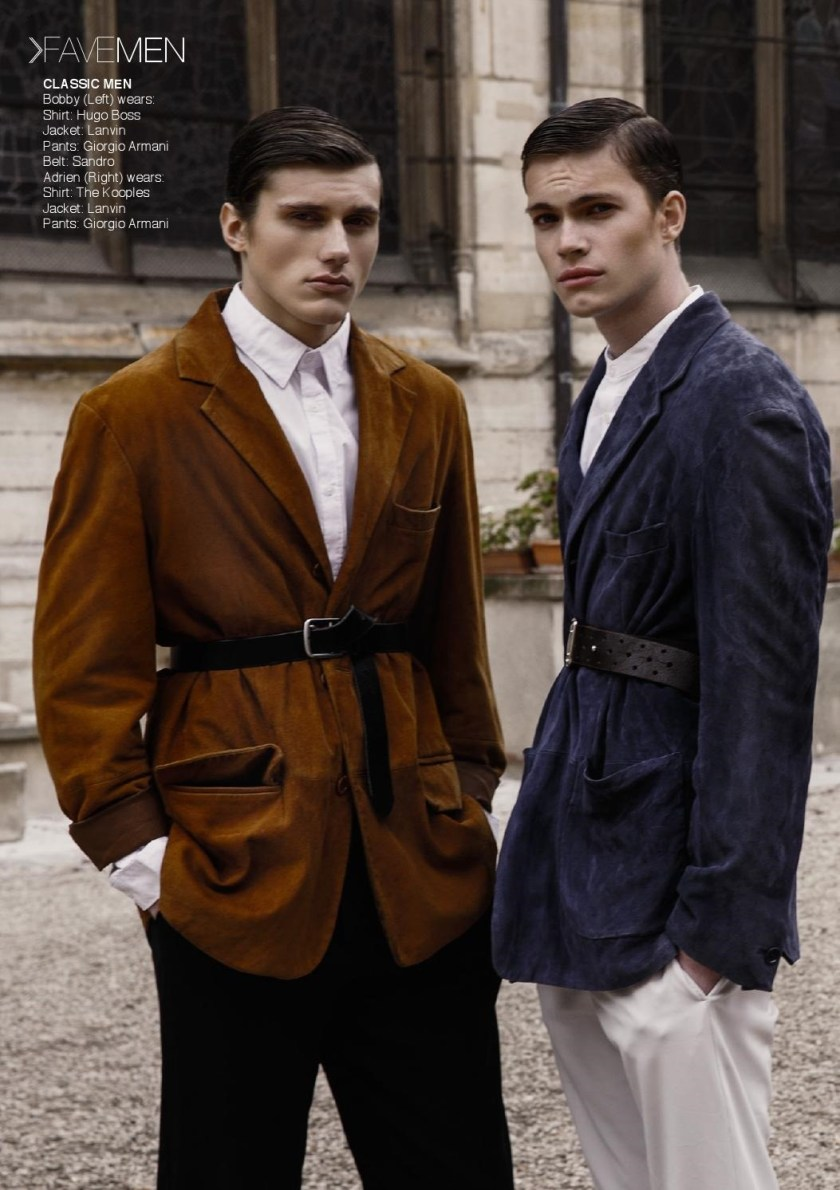 FAVE MEN Adrien Thiriet & Bobby G by Yuji Watanabe. Lesage Akouala, Spring 2016, www.imageamplified.com, Imgae Amplified (2)