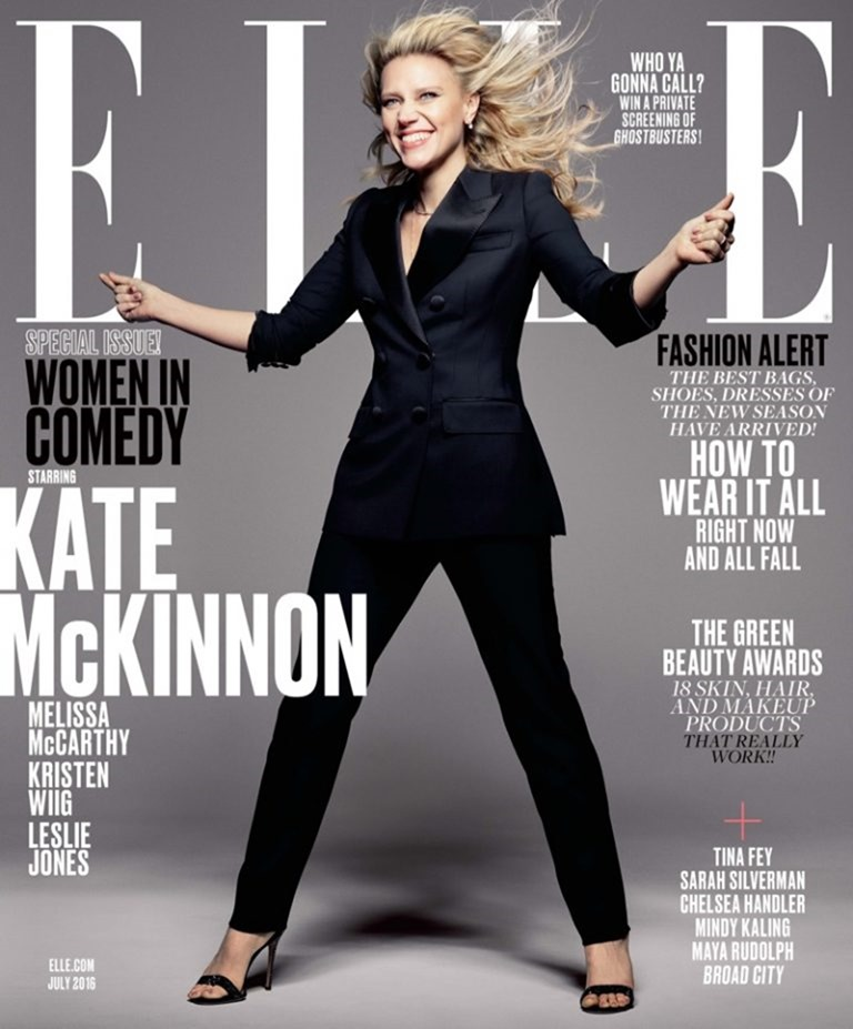 ELLE MAGAZINE Melissa McCarthy, Kristen Wiig, Leslie Jones & Kate McKinnon by mark Seliger. Samira Nasr, July 2016, www.imageamplified.com, Image Amplified (1)