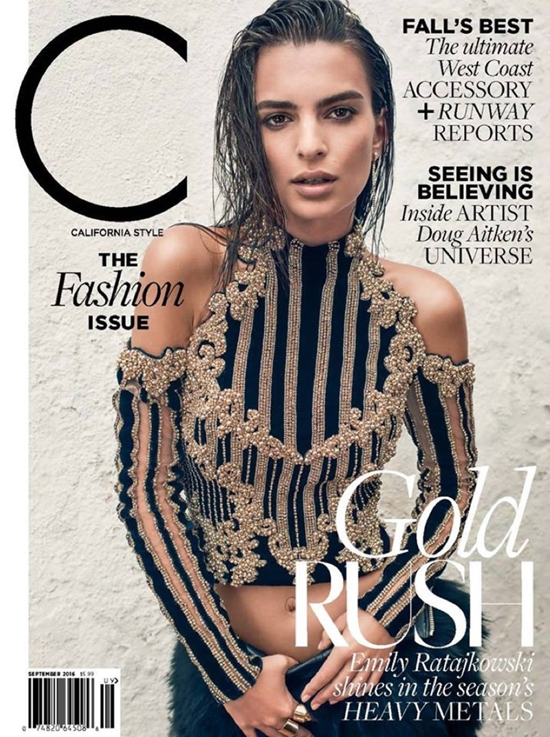 C MAGAZINE Emily Ratajkowski by Beau Grealy. Alison Edmond, September 2016, www.imageamplified.com, Image Amplified1