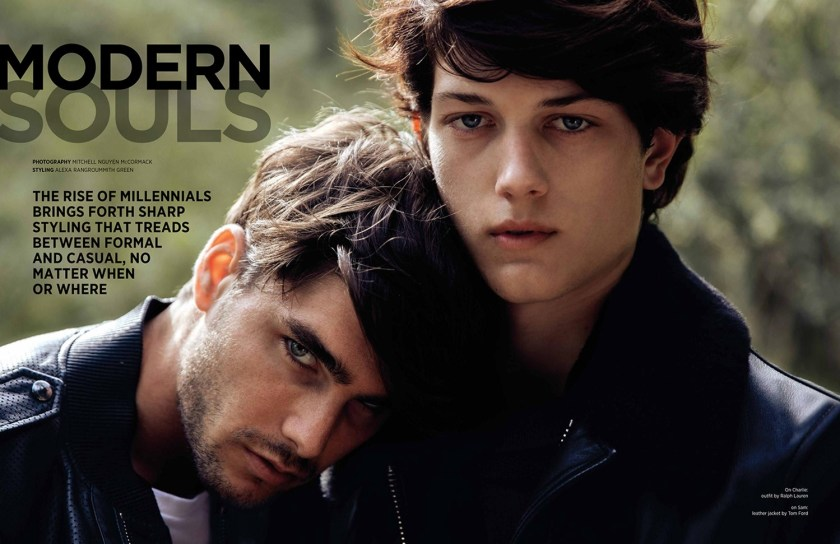DAMAN MAGAZINE Charlie Matthews & Sam Evans by Mitchell Nguyen McCormack. Alexa Rangroummith Green, Summer 2016, www.imageamplified.com, Image Amplified1