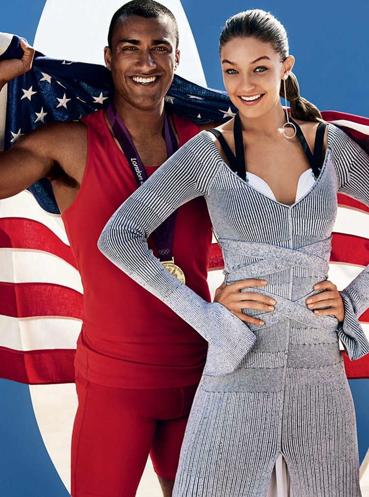 VOGUE MAGAZINE Gigi Hadid & Ashton Eaton by Mario Testino. Tonne Goodman, August 2016, www.imageamplified.com, Image Amplified2
