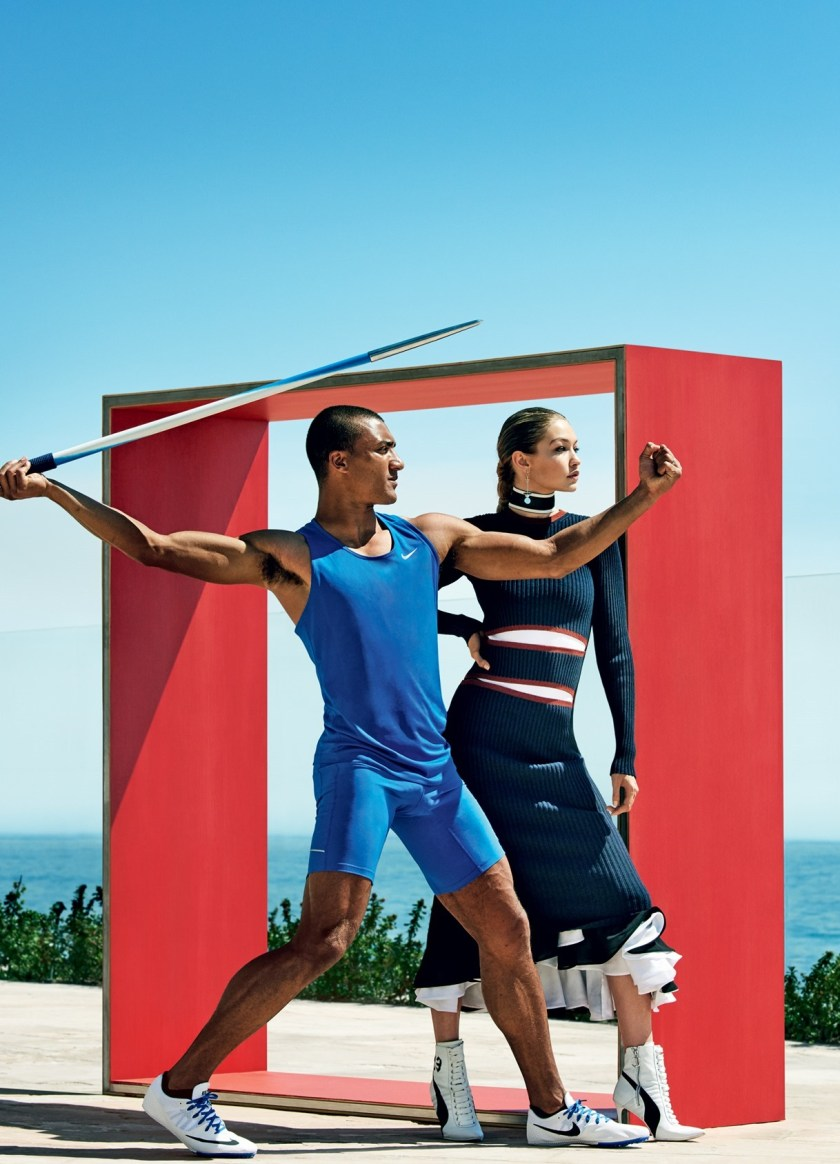 VOGUE MAGAZINE Gigi Hadid & Ashton Eaton by Mario Testino. Tonne Goodman, August 2016, www.imageamplified.com, Image Amplified5
