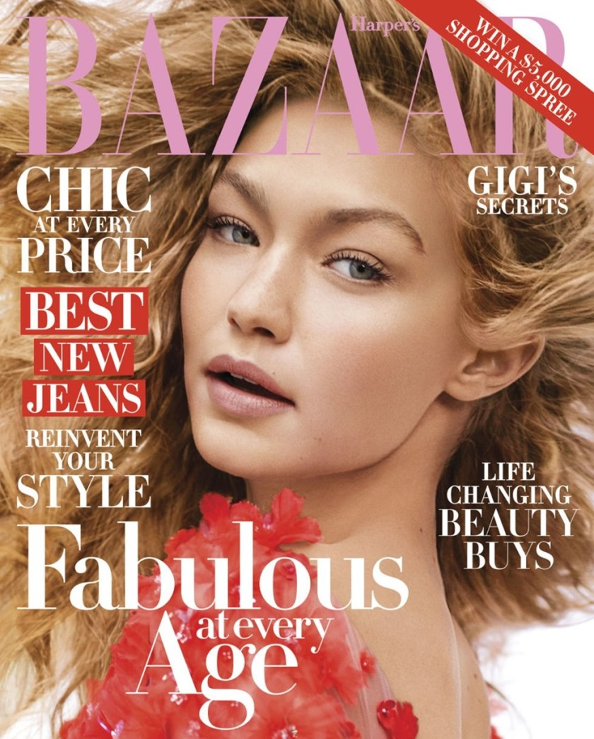 HARPER'S BAZAAR MAGAZINE Gigi hadid by Karl Lagerfeld. October 2016, www.imageamplified.com, Image Amplified (10)