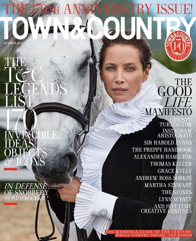 TOWN & COUNTRY MAGAZINE Christy Turlington by Max Vadukul. October 2016, www.imageamplified.com, Image Amplified (1)
