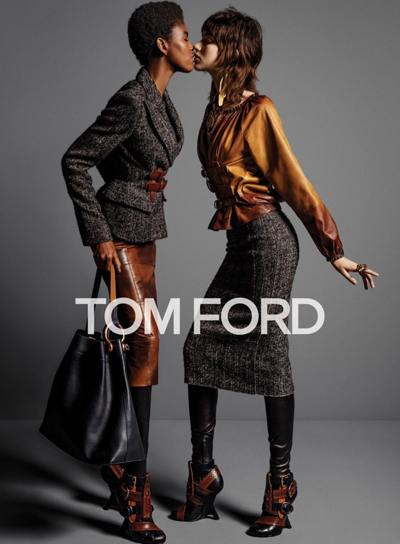CAMPAIGN Grace Hartzel, Amilna Estevao & Yasmin Wijnaldum for Tom Ford Fall 2016 by Inez & Vinoodh. Carine Roitfeld, www.imageamplified.com, Image Amplified7