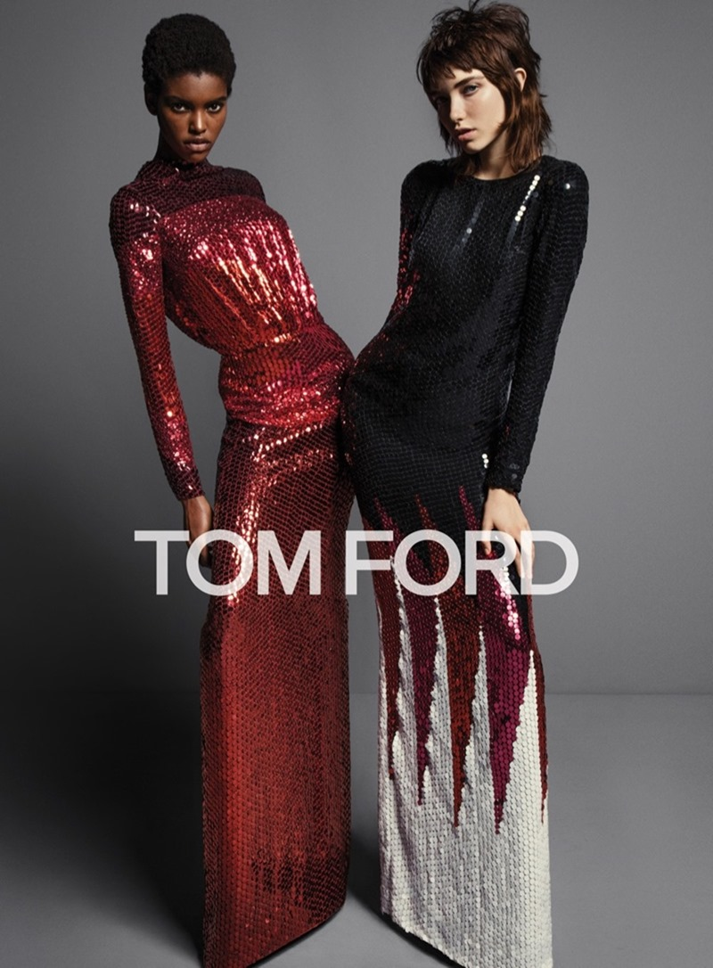 CAMPAIGN Grace Hartzel, Amilna Estevao & Yasmin Wijnaldum for Tom Ford Fall 2016 by Inez & Vinoodh. Carine Roitfeld, www.imageamplified.com, Image Amplified5