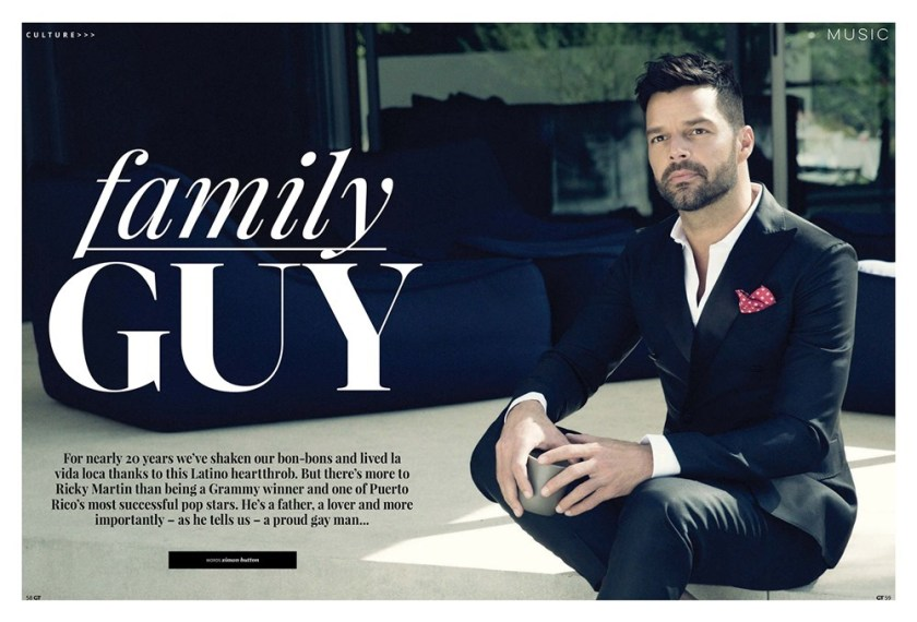GAY TIMES MAGAZINE Ricky Martin by Nino Munoz. Fall 2016, www.imageamplified.com, Image Amplified4